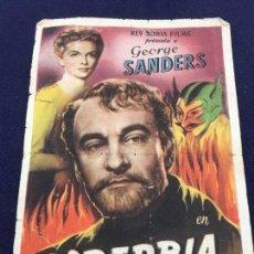 Cine: SOBERBIA CON GEORGE SANDERS - FOLLETO DE MANO SENCILLO - REF. FM-092. Lote 222914552