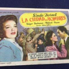 Cine: LA CIUDAD SIN HOMBRES - FOLLETO DE MANO SENCILLO - REF. FM-091. Lote 222915213