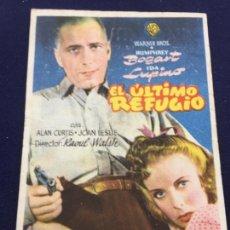 Cine: EL ULTIMO REFUGIO CON HUMPHREY BOGART - FOLLETO DE MANO SENCILLO - REF. FM-088. Lote 222917290