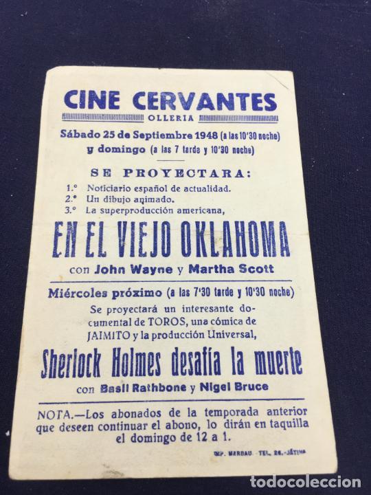 Cine: EN EL VIEJO OKLAHOMA CON JOHN WAYNE - FOLLETO DE MANO SENCILLO - REF. FM-083 - Foto 2 - 222921396