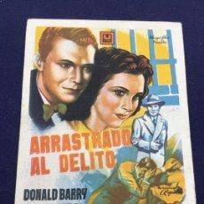 Cine: ARRASTRADO AL DELITO - FOLLETO DE MANO SENCILLO - REF. FM-082. Lote 222921765