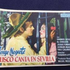 Cine: JALISCO CANTA EN SEVILLA CON JORGE NEGRETE - FOLLETO DE MANO SENCILLO - REF. FM-179. Lote 222936545
