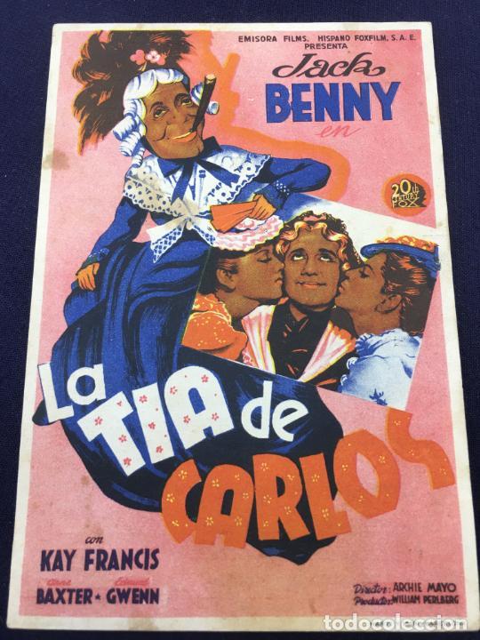 LA TIA DE CARLOS - FOLLETO DE MANO SENCILLO - REF. FM-175 (Cine - Folletos de Mano - Comedia)