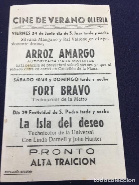 Cine: FORT BRAVO - FOLLETO DE MANO SENCILLO - REF. FM-171 - Foto 2 - 222939642