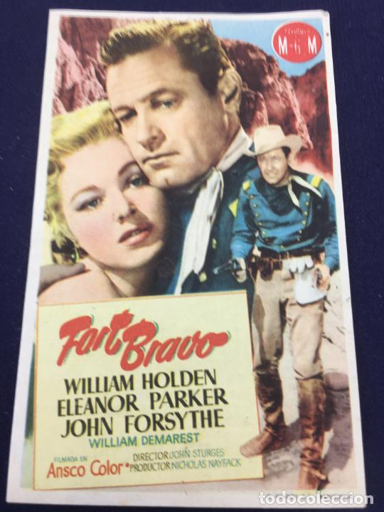 FORT BRAVO - FOLLETO DE MANO SENCILLO - REF. FM-171 (Cine - Folletos de Mano - Westerns)