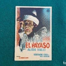 Folhetos de mão de filmes antigos de cinema: PROGRAMA DE MANO CINE EL PAYASO (S/F) CON CINE AL DORSO. Lote 222941197