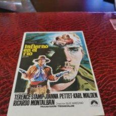 Folhetos de mão de filmes antigos de cinema: PROGRAMA DE MANO ORIG - INFIERNO EN EL RÍO - SIN CINE IMPRESO AL DORSO. Lote 222952937