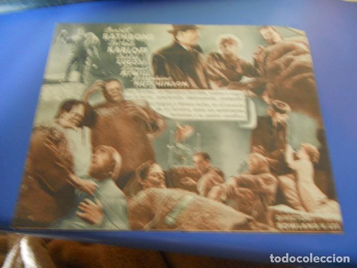 Cine: folleto de mano cine la sombra de frankenstein - Foto 2 - 222954293