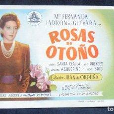 Cine: PROGRAMA DE CINE - ROSAS DE OTOÑO - S/P. Lote 223003626