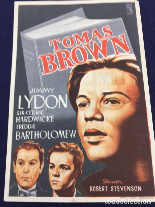 TOMAS BROWN - FOLLETO DE MANO SENCILLO - REF. FM-151 (Cine - Folletos de Mano - Comedia)