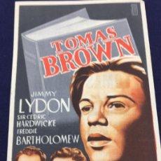 Cine: TOMAS BROWN - FOLLETO DE MANO SENCILLO - REF. FM-151. Lote 223015758
