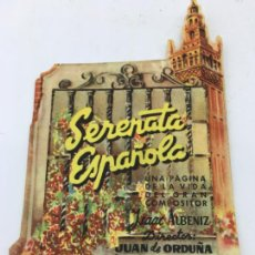 Cine: SERENATA ESPAÑOLA - FOLLETO DE MANO TROQUELADO - REF. FM-204. Lote 223032397