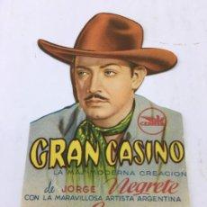 Cine: GRAN CASINO - FOLLETO DE MANO TROQUELADO SIN PUBLICIDAD - REF. FM-203. Lote 223033135