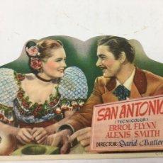 Cine: SAN ANTONIO - FOLLETO DE MANO TROQUELADO CON PUBLICIDAD - REF. FM-200. Lote 223034613