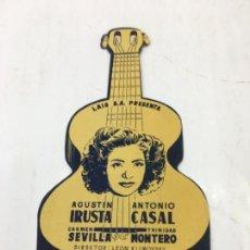 Cine: LA GUITARRA DE GARDEL - FOLLETO DE MANO TROQUELADO CON PUBLICIDAD - REF. FM-198. Lote 223035600