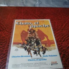 Foglietti di film di film antichi di cinema: PROGRAMA DE MANO ORIG - CHATO EL APACHE - CON CINE DE SESTAO IMPRESO AL DORSO. Lote 223157825