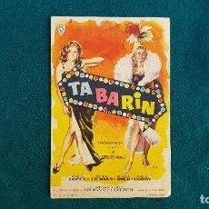 Flyers Publicitaires de films Anciens: PROGRAMA DE MANO CINE TABARIN (1962) CON CINE AL DORSO. Lote 223240470
