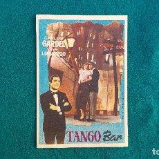 Flyers Publicitaires de films Anciens: PROGRAMA DE MANO CINE TANGO BAR (S/F) CON CINE AL DORSO. Lote 223240571