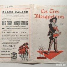 Cine: LOS TRES MOSQUETEROS, 1932, PROGRAMA DOBLE (JORNADAS). HARRY BAUR. Lote 223308105