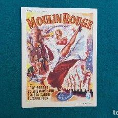 Flyers Publicitaires de films Anciens: PROGRAMA DE MANO CINE MOULIN ROUGE (S/F) CON CINE AL DORSO. Lote 223356458