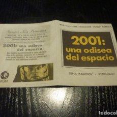 Flyers Publicitaires de films Anciens: PROGRAMA DE CINE IMPRESO EN LA PARTE TRASERA. Lote 223366278