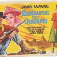 Foglietti di film di film antichi di cinema: CENTAURO DEL DESIERTO. SENCILLO DE WB. Lote 223399022