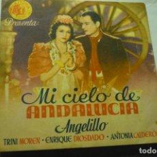 Cine: PROGRAMA DOBLE MI CIELO DE ANDALUCIA - ANGELILLO PUBLICIDAD. Lote 223401017
