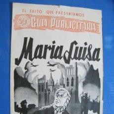 Cine: MARIA LUISA-ASTORIA FILMS-GUIA PROGRAMA DE CINE-VER FOTOS-(V-22.364). Lote 223402331
