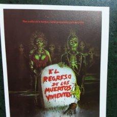 Foglietti di film di film antichi di cinema: EL REGRESO DE LOS MUERTOS VIVIENTES, SENCILLO IMPRESO EN LOS AÑOS 80. Lote 223530627