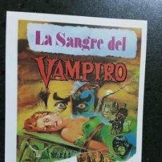 Foglietti di film di film antichi di cinema: LA SANGRE DEL VAMPIRO, SENCILLO IMPRESO EN LOS AÑOS 80. Lote 223531285