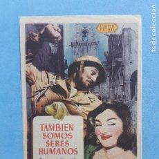 Cine: TAMBIÉN SOMOS SERES HUMANOS. BURGESS MEREDITH, ROBERT MITCHUM, FREDDIE STEE. Lote 223560017