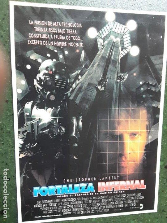FORTALEZA INFERNAL, CHRISTOPHER LAMBERT, POSTAL MERCURI, PROGRAMA IMPRESO EN LOS AÑOS 80 (Cine - Folletos de Mano - Ciencia Ficción)
