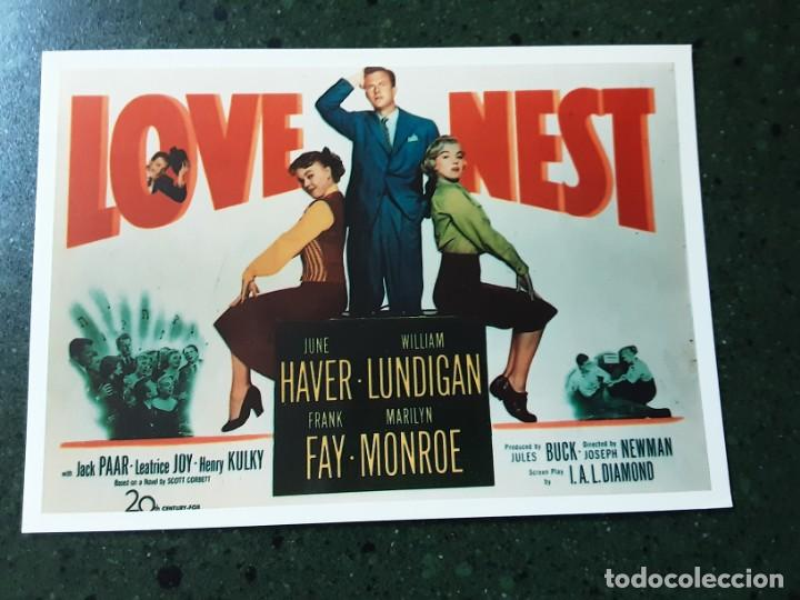 LOVE NEST, POSTAL, IMPRESO EN LOS AÑOS 80 (Cine - Folletos de Mano - Comedia)