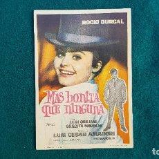 Folhetos de mão de filmes antigos de cinema: PROGRAMA DE MANO CINE MAS BONITA QUE NINGUNA (1956) CON CINE AL DORSO. Lote 223743672
