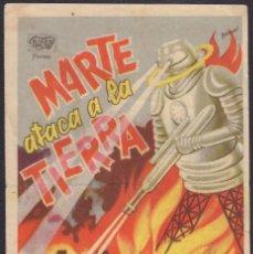 Folhetos de mão de filmes antigos de cinema: PROGRAMA SENCILLO DE MARTE ATACA A LA TIERRA (1938) - IDEAL CINEMA DE ALICANTE. Lote 223848211