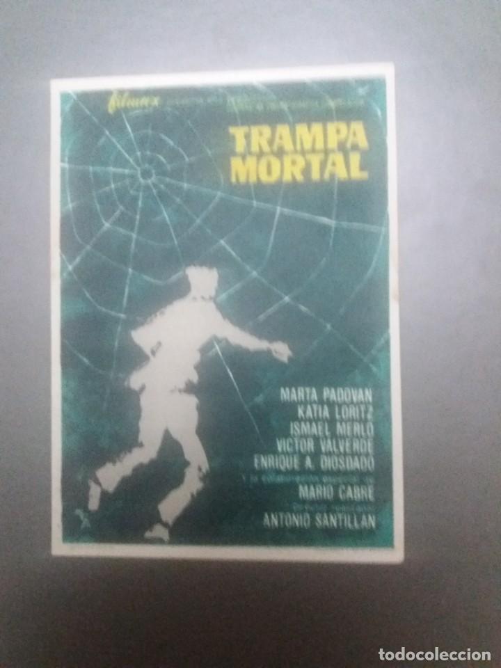 TRAMPA MORTAL CON PUBLICIDAD CINE CAPITOL MÁLAGA (Cine - Folletos de Mano - Acción)