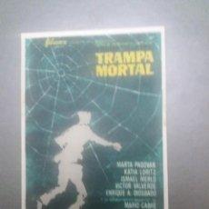 Cine: TRAMPA MORTAL CON PUBLICIDAD CINE CAPITOL MÁLAGA. Lote 223868912