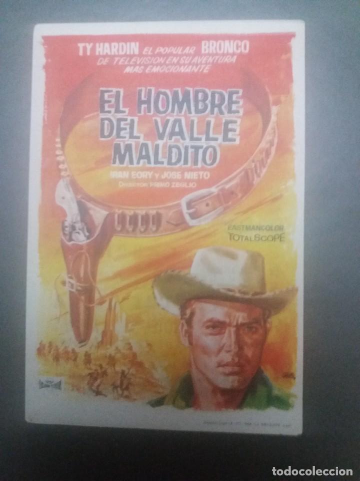 EL HOMBRE DEL VALLE MALDITO CON PUBLICIDAD CINE CAPITOL MÁLAGA (Cine - Folletos de Mano - Westerns)