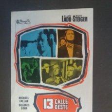 Flyers Publicitaires de films Anciens: 13 CALLE OESTE CON PUBLICIDAD CINE SAVOY CIUDAD REAL. Lote 223941588