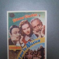Cine: LOCA POR LA MÚSICA CON PUBLICIDAD CINE MÁLAGA CINEMA. Lote 223965476