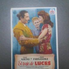 Cine: EL TRAJE DE LUCES CON PUBLICIDAD CINE MÁLAGA CINEMA. Lote 223966423