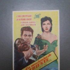 Folhetos de mão de filmes antigos de cinema: LA MUCHACHA DE TRIESTE CON PUBLICIDAD TEATRO CERVANTES. Lote 223969427