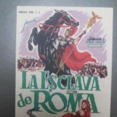 Cine: LA ESCLAVA DE ROMA CON PUBLICIDAD TEATRO CERVANTES. Lote 223970071