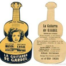 Cine: LA GUITARRA DE GARDEL, CON CARMEN SEVILLA.. Lote 268404829