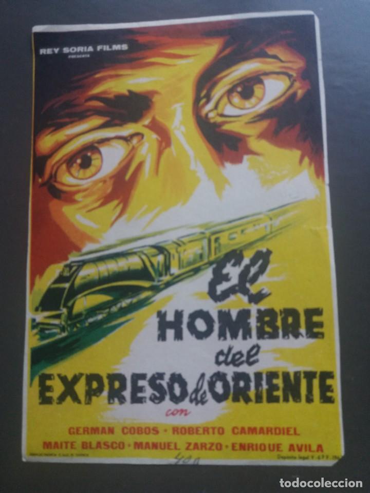 EL HOMBRE DEL EXPRESO DE ORIENTE SIN PUBLICIDAD (Cine - Folletos de Mano - Acción)