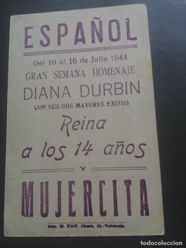 Cine: Reina a los 14 años y Mujercita con Publicidad Cine Español Valencia - Foto 2 - 224081830