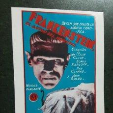 Foglietti di film di film antichi di cinema: FRANKENSTEIN, BORIS KARLOFF, PROGRAMA IMPRESO EN LOS AÑOS 80. Lote 224130268