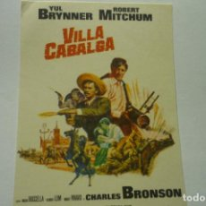 Flyers Publicitaires de films Anciens: PROGRAMA VILLA CABALGA YUL BRYNNER. Lote 224132557