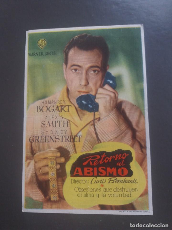 RETORNO AL ABISMO CON PUBLICIDAD CINE ESPAÑOL TETUÁN (Cine - Folletos de Mano - Aventura)