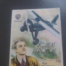Cine: AGUILAS HEROICAS CON PUBLICIDAD CINE PLUS ULTRA MÁLAGA. Lote 224341038